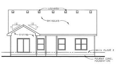 Rear Elevation Plan: 10-1494