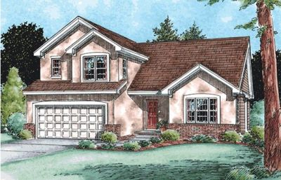 Traditional Style Home Design Plan: 10-1496