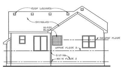 Rear Elevation Plan: 10-1496