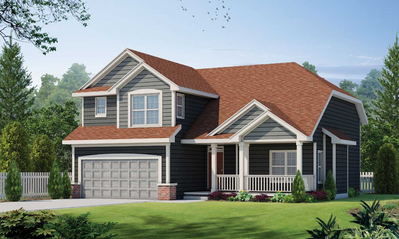Traditional Style Home Design Plan: 10-1497