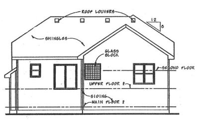 Rear Elevation Plan: 10-1497