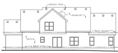 Rear Elevation Plan: 10-1498