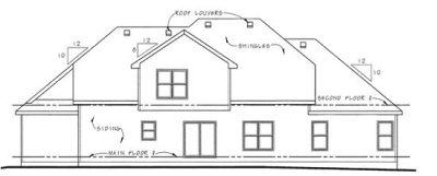 Rear Elevation Plan: 10-1499