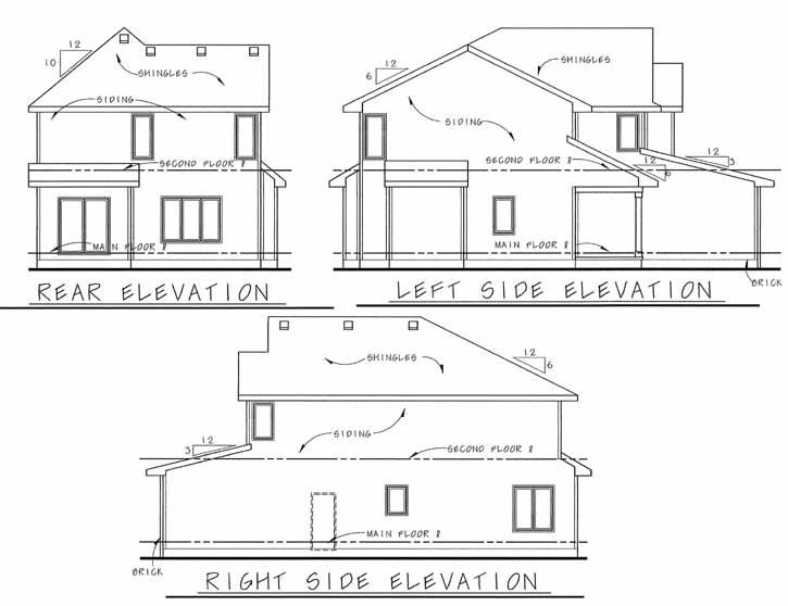 Rear Elevation Plan: 10-1500