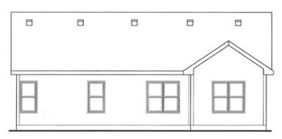 Rear Elevation Plan: 10-1502