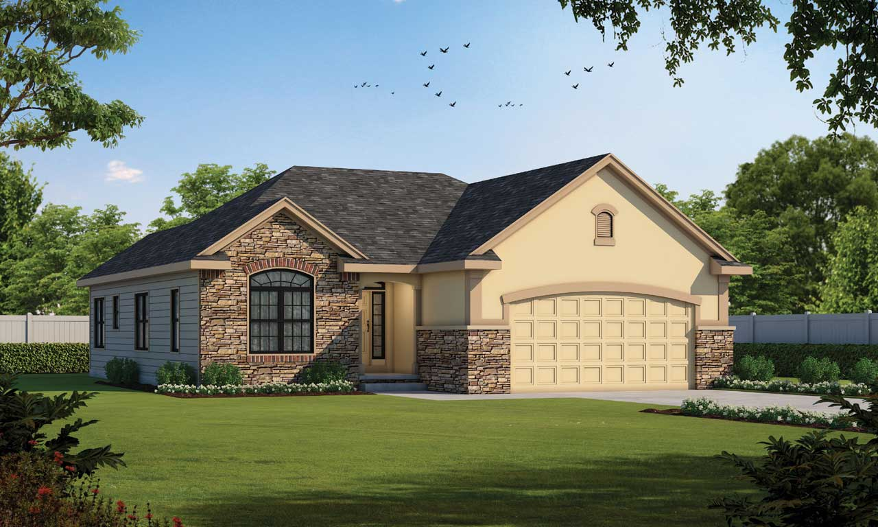 Traditional Style Home Design Plan: 10-1503