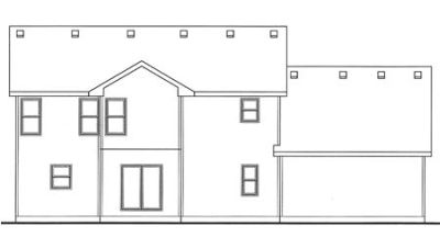 Rear Elevation Plan: 10-1504