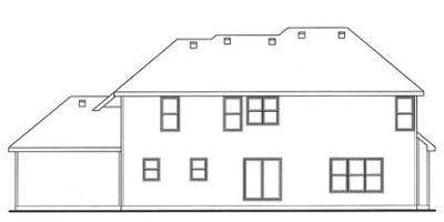 Rear Elevation Plan: 10-1507