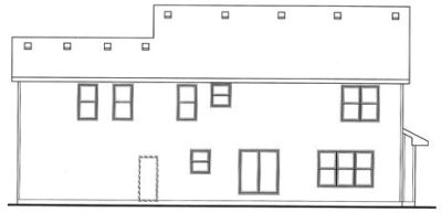 Rear Elevation Plan: 10-1508