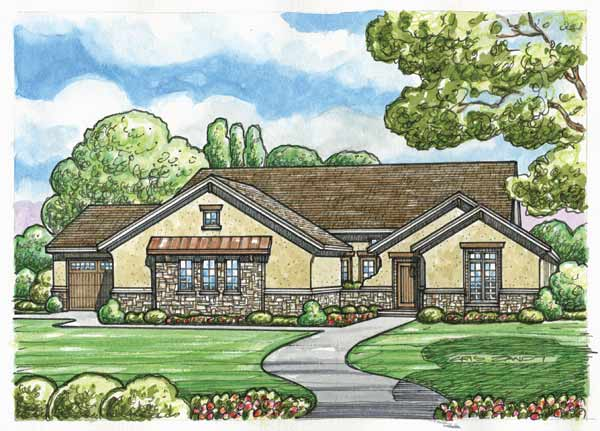 French-country Style Floor Plans Plan: 10-1512