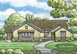 French-Country Style Home Design Plan: 10-1512