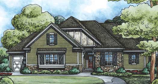 European Style House Plans Plan: 10-1513