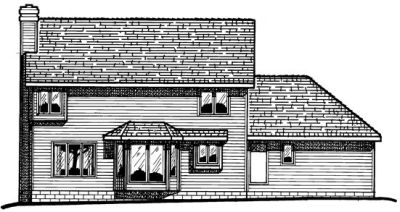 Rear Elevation Plan: 10-1516