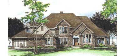 European Style House Plans Plan: 10-1517