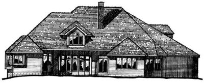 Rear Elevation Plan: 10-1517