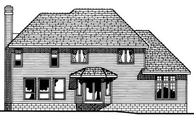 Rear Elevation Plan: 10-1518