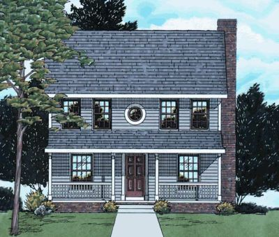 Colonial Style Floor Plans Plan: 10-1520