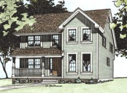 Farm Style House Plans Plan: 10-1521