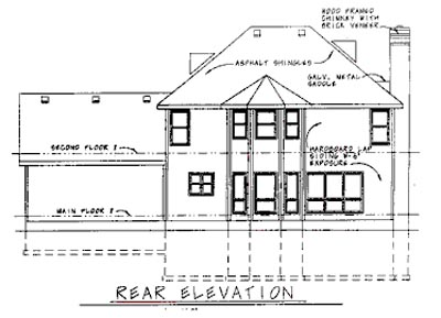 Rear Elevations Plan:10-1522