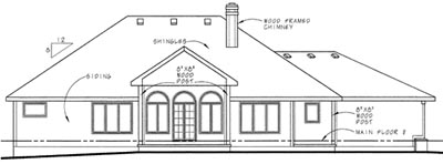 Rear Elevation Plan: 10-1523