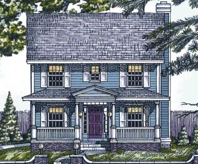 Southern-colonial Style Floor Plans Plan: 10-1524