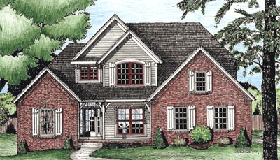 Traditional Style Home Design Plan: 10-1525