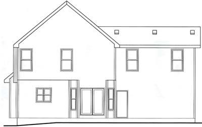 Rear Elevation Plan: 10-1533