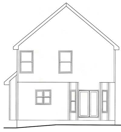 Rear Elevation Plan: 10-1534