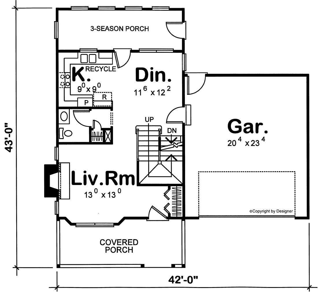 Main Floor Plan: 10-1535
