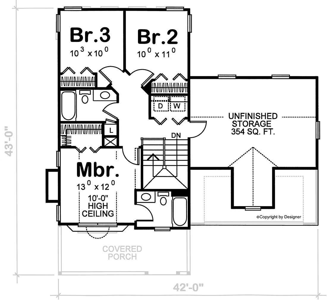 Upper/Second Floor Plan: 10-1535