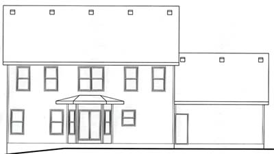 Rear Elevation Plan: 10-1538