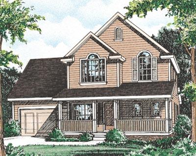 Farm Style Home Design Plan: 10-1539