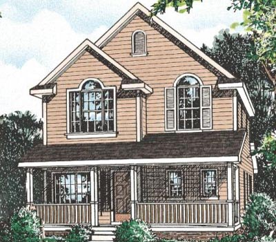Farm Style Home Design Plan: 10-1540
