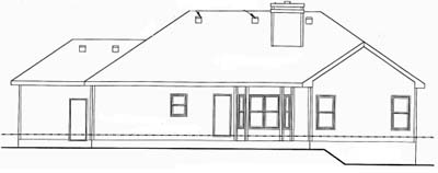 Rear Elevation Plan: 10-1541