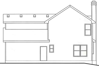 Rear Elevation Plan: 10-1542