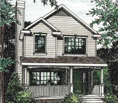Farm Style Home Design Plan: 10-1543