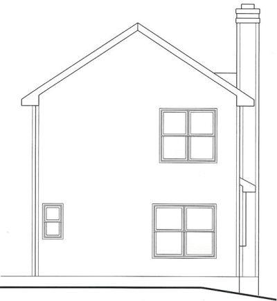 Rear Elevation Plan: 10-1543