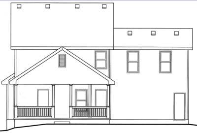 Rear Elevation Plan: 10-1544