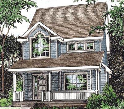 Farm Style Home Design Plan: 10-1545