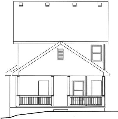Rear Elevation Plan: 10-1545