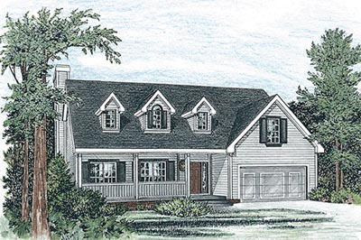 Country Style House Plans Plan: 10-1547