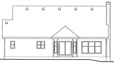 Rear Elevation Plan: 10-1547