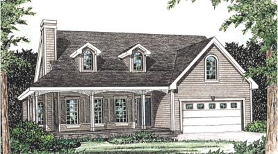 Country Style House Plans Plan: 10-1548