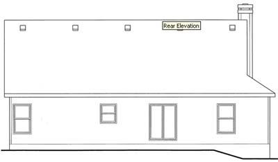 Rear Elevation Plan: 10-1548