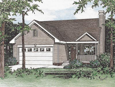 Traditional Style Home Design Plan: 10-1550