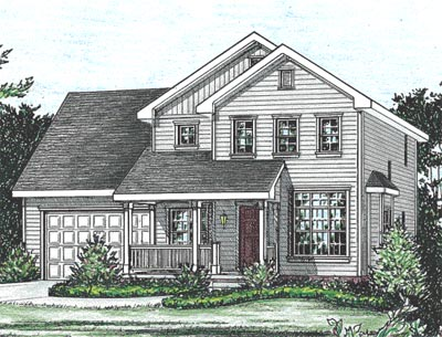 Traditional Style Home Design Plan: 10-1553