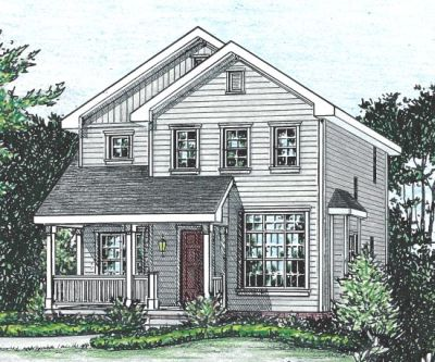 Traditional Style Home Design Plan: 10-1554
