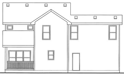 Rear Elevation Plan: 10-1555