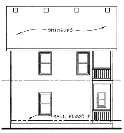Rear Elevation Plan: 10-1558