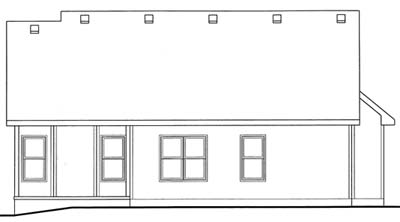 Rear Elevation Plan: 10-1559